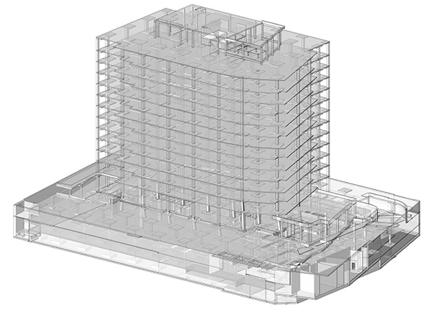 3D BIM Example - Founder's Square