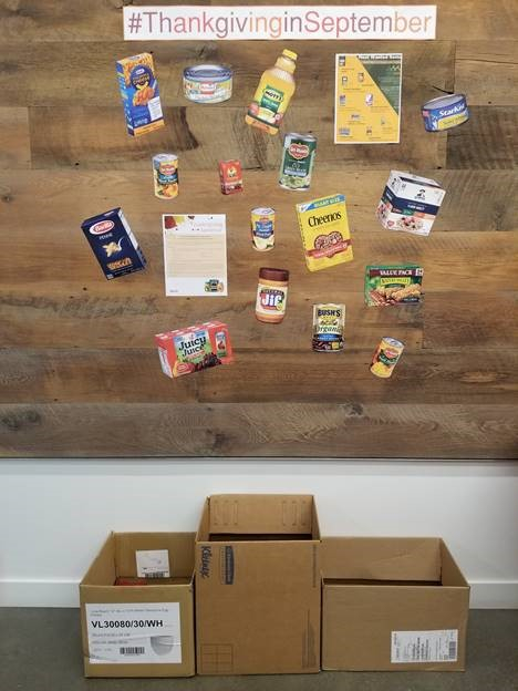 Thanksgiving in September! SK&A staff raise funds and gather donations for the Capital Area Food Bank