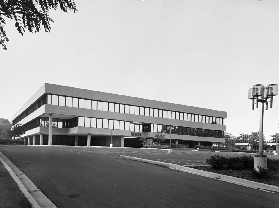 Front Exterior of SK&A's new offices (in 1980) at 6101 Executive Blvd., Rockville, MD