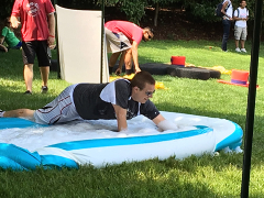 David looking for a squid in the obstacle course relay.