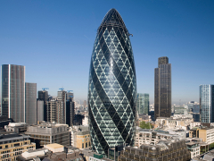 A picture of the actual Gherkin building in London.