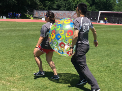 Naina and George Competing in Big Ball