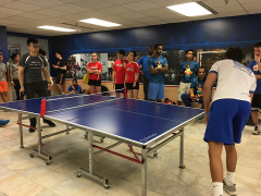 George Competing in Table Tennis