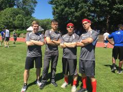 Men's 4x100 Relay Team: James, George, David, and Frank