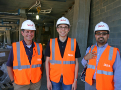 Structural Principal-in-Charge for the project, Scott Stewart, PE and engineers, Sikandar Porter-Gill, EIT, LEED Green Associate, and David Pirnia, PE, Asst. PM.
