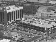 Maryland National Bank Office building and parking garage (circa 1968). Later became the General Electric (GE) Center.