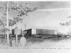 Rendering of Office Building Addition at Goddard Space Flight Center, Lanham, MD.