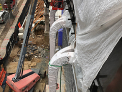 Glulam Frames Installation at Chancery Entrance