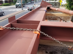 Reverse King Post Truss on Delivery Truck