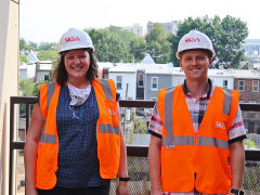 Structural Project Manager, Kellie Farster and Project Engineer, Matt Holtschneider.
