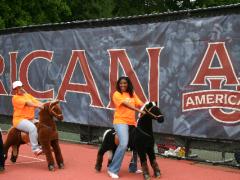 Marketing Manager, Charmaine Josiah and Cherie horsing around.