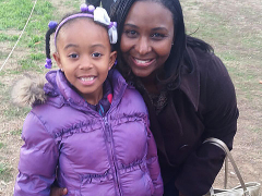 ETI Office Manager Lashonda with her daughter Nia.