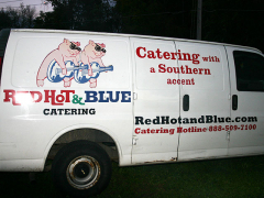 Delish! Red, Hot & Blue BBQ.