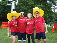 The obstacle course team: from left, Catherine, Murat, Jessie & Jonathan.